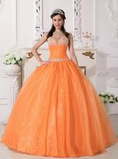 Cheap Sweetheart Orange Buy Dress To Quinceanera Party