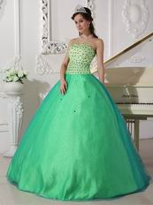 Apple Green Sweetheart Dress 2019 Tulle Spring Quinceanera Party