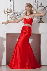 2012 Custom Made Sweetheart Scarlet Long Prom Dress Discount
