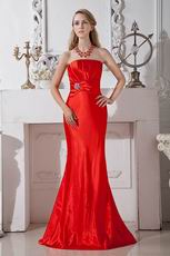 Affordable Strapless Mermaid Scarlet Juniors Evening Dress