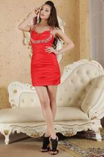 2013 Style Halter Sweetheart Homecoming Dress In Red