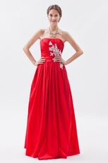 2012 Scarlet With Applique Evening Dress For Discount