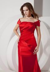Cheap Off The Shoulder Scarlet Evening Party Gown Dress