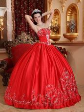 Embroidered Strapless Designer Puffy Quinceanera Party Outfits