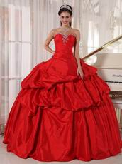 Alizarin Crimson Strapless Dress To Girl Quinceanear Wear