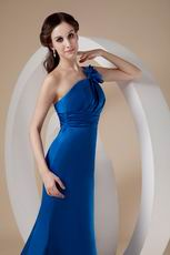 Royal Blue Mermaid Single One Shoulder Top Designer Prom Dress