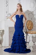 Elegant Sweetheart Mermaid Royal Blue Formal Evening Dress