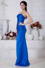 Classical Style Royal Blue Stain Petite Evening Dress Cheap
