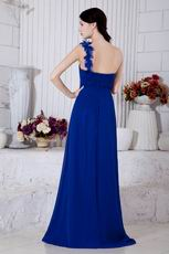 Affordable One Shoulder Dark Blue Prom Dresses For Women