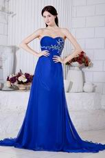 2013 Embroidery Bodice Side Zip La Femme Evening Dress