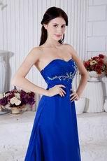 2013 Embroidery Bodice Side Zip La Femme Evening Dress