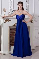 Cheap Empire Royal Blue Chiffon Women Evening Dresses
