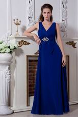 Affordable V-Neck Royal Blue Evening Formal Occasion Dress