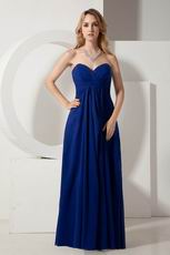 Cheap Floor Length Royal Blue La Femme Evening Dress