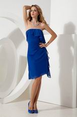 Cheap Royal Blue Knee Length Homecoming Dresss