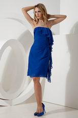 Cheap Royal Blue Knee Length Homecoming Dresss