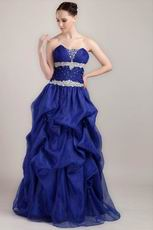 Beaded Sweetheart Floor-length Royal Blue Dress For Prom Party