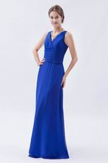 Cheap V-Neck Royal Blue Pro Party Dress For Sale