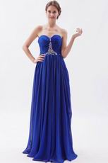 Inexpensive Royal Blue Evening Chiffon Dress For Women