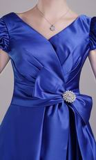 A-line Skirt Discount Short Taffeta Prom Dress In Royal Blue