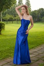One Shoulder Cobalt Blue Sheath 2014 Prom Party Dress