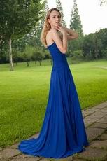 Buy Prom Dresses Sweetheart Royal Blue Chiffon Front Split Skirt