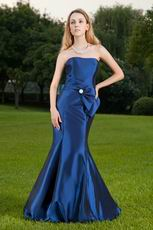 Sweetheart Neckline Mermaid Marine Blue Skrit Prom Dress
