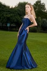 Sweetheart Neckline Mermaid Marine Blue Skrit Prom Dress
