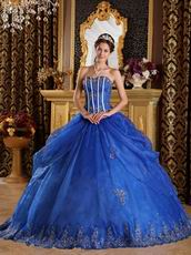Royal Appliqued Bottom Skirt Quinceanera Dress Ready To Wear