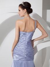 One Shoulder Mermaid Silhouette La Prom Dress Lavender