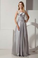 2013 Empire Waist Silver Evening Party Dress For Cheap