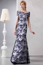 Off Shoulder Mermaid Black Lace Mother Of The Bride Dress