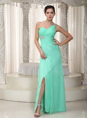 Apple Green One Shoulder Design Make Your Own Prom Dresses Inexpensive