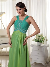 2014 Chiffon Straps Cache Prom Dress Teal and Grass Green Inexpensive