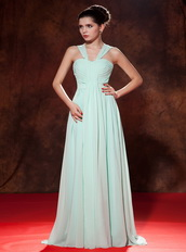 Apple Green Straps Designer Prom Dresses Ready To Wear Inexpensive