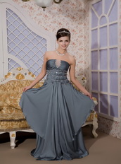 Peacock Green Empire Strapless Prom / Evening Dress For Lady Inexpensive