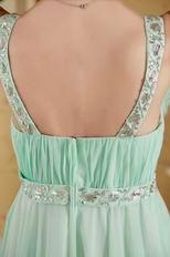 Straps Square Neck Top Designer Fading Color Fabric Prom Dress