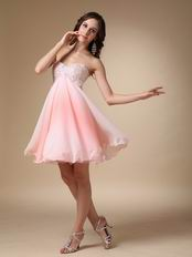 Fading Chiffon Fabric Sweetheart Cute Short Prom Dress