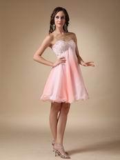 Fading Chiffon Fabric Sweetheart Cute Short Prom Dress