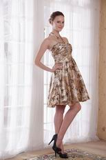 New Style Sexy Halter Leopard Printed Short Prom Dress For Girl