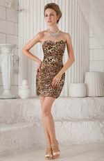 Sweetheart Mini-length Sexy Leopard Print Short Prom Dress