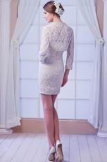 Designer Recommend Champagne Lace Corset Bridal Mother Prom Dress With Jacket