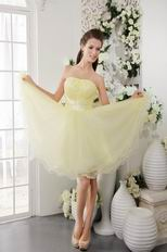 Sweetheart Daffodil Yellow Discount Short Prom Dress