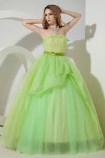 Contrast Color Fading Green Quinceanera Dress Like A Princess