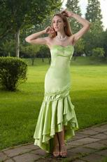 Mermaid Lime Green High Low Skirt New Look Prom Dress
