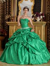 Spring Green Floor Length Ball Dress For Quinceanera Wear