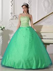 Apple Green Sweetheart Dress Spring Quinceanera Tulle Dresses