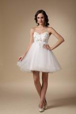 Cute White Sweet Sixteen Party Girls Dress With Applique
