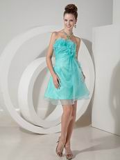 Pale Turquoise Organza Sweet 16 Dress Under 100 Pounds