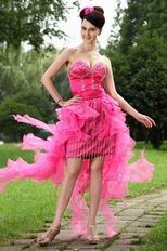 Cheap Drapped Skirt Hot Pink Summer Sweet 16 Dress